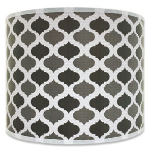 Royal designs dark gray mediterranean pattern shallow drum hardback la foto se est cargando royal disenos gris oscuro ogee patron geometrico superficial aloadofball Gallery
