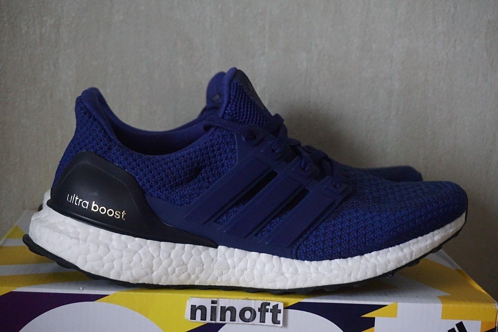 Adidas Women's Ultra Boost Blue White Black AQ5933 sz wmns  6 7