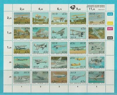 Ijverig Südafrika Aus 1993 ** Postfrisch Minr. 865-889 Zd-bogen Flugzeuge Hubschrauber