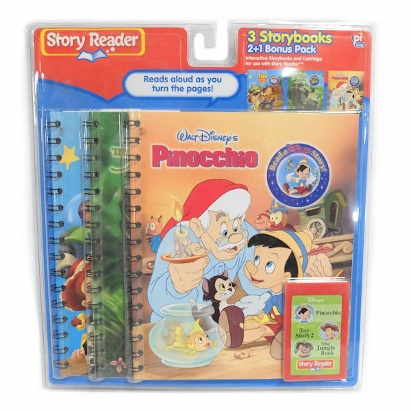 Story Reader 3 Storybooks Disney Pinocchio, Toy Story 2, The Jungle Book