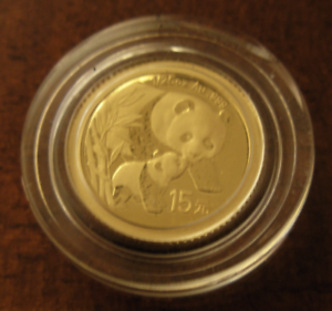 China-2007-2004-Diseno-Oro-1-25-OZ-15-Yuan-Panda-25th-Aniversario-Prueba