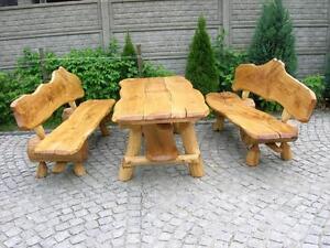 Sitzgruppe Gartenmöbel Massivholz Terrassenmöbel Sitzgarnitur ...