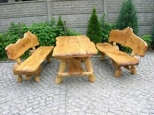 Sitzgruppe Gartenmobel Massivholz Terrassenmobel Sitzgarnitur