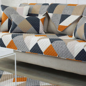 Groovy Details About Stylish Sofa Cover Removable Quilted Couch Slipcover Orange Twill Pattern Rm58 Beutiful Home Inspiration Xortanetmahrainfo