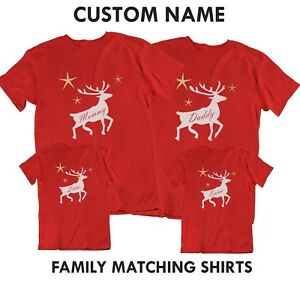 matching reindeer Christmas shirt christmas shirt gifts for kids family matching christmas shirts personalized shirt custom tee,
