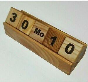 Wood Desk Calendar Hand Made Calendar Ash Wood Block Calendar Office