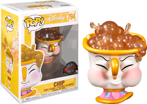 Chip-Potts-with-Bubbles-Beauty-amp-The-Beast-Funko-Pop-Vinyl-New-in-Box