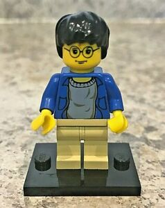 Genuine-LEGO-HARRY-POTTER-Minifigure-Harry-in-blue-shirt-Complete-hp004
