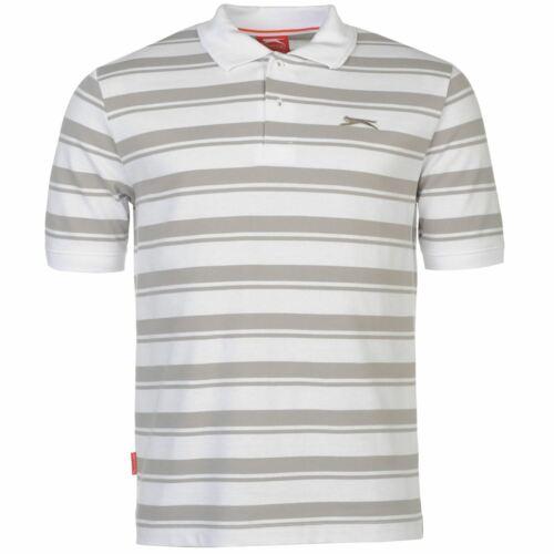 Slazenger Mens Pique YD Polo Shirt Tee Top Smart Stripe Casual Short Sleeve