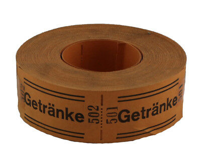 GETRÄNKE blau Getränkemarke Getränkewertmarke Wertmarke Bonrolle 1000 Marken//R