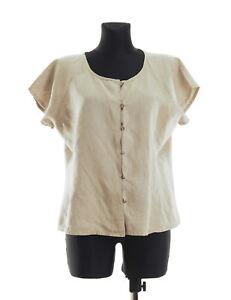 Masai Women s short sleeved Linen Top Blouse Shirt Size Medium  8757a63a2