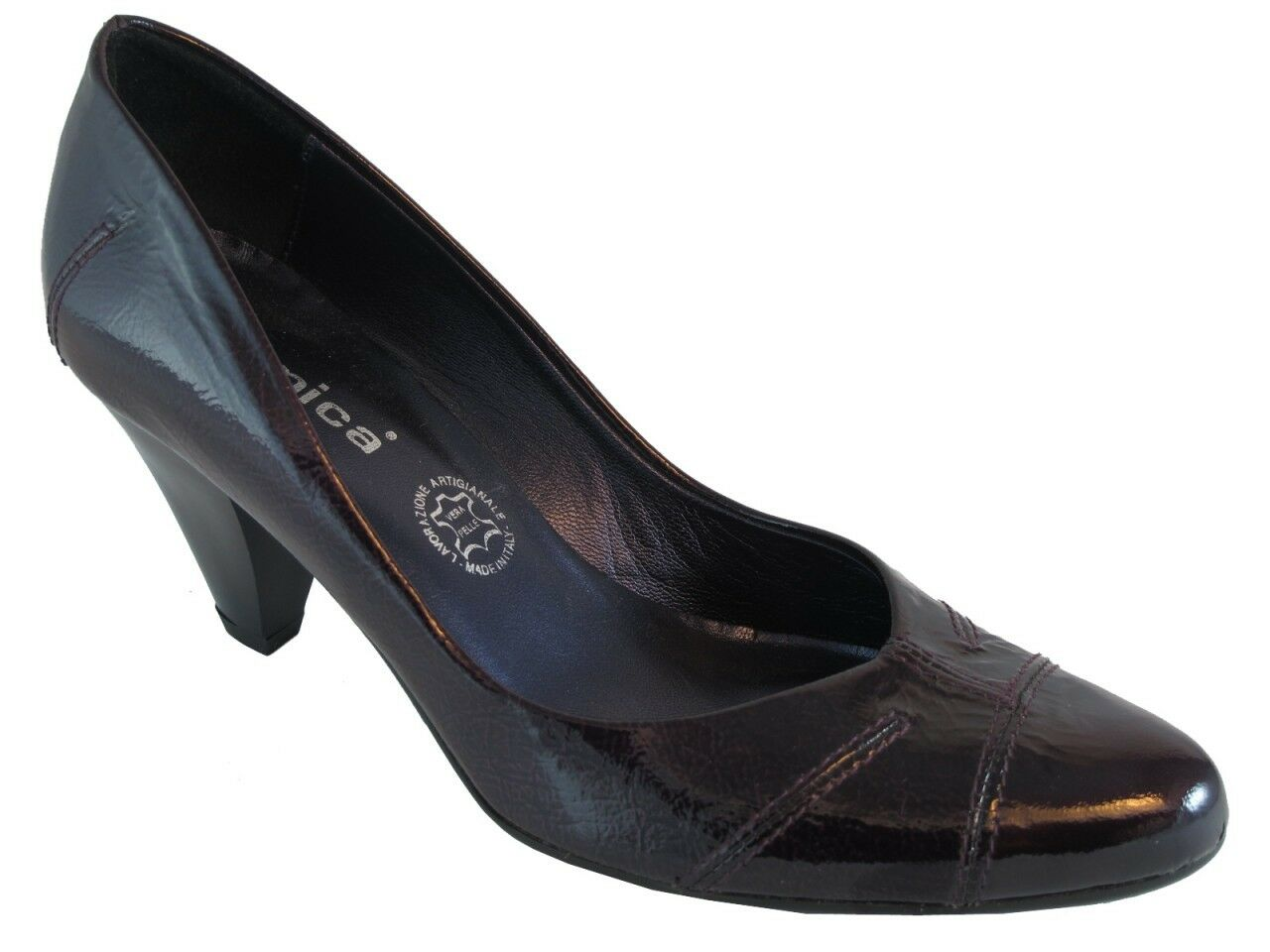 Women's Lamica Lamica Lamica Syria Italian Leather Low Heel shoes 93690b