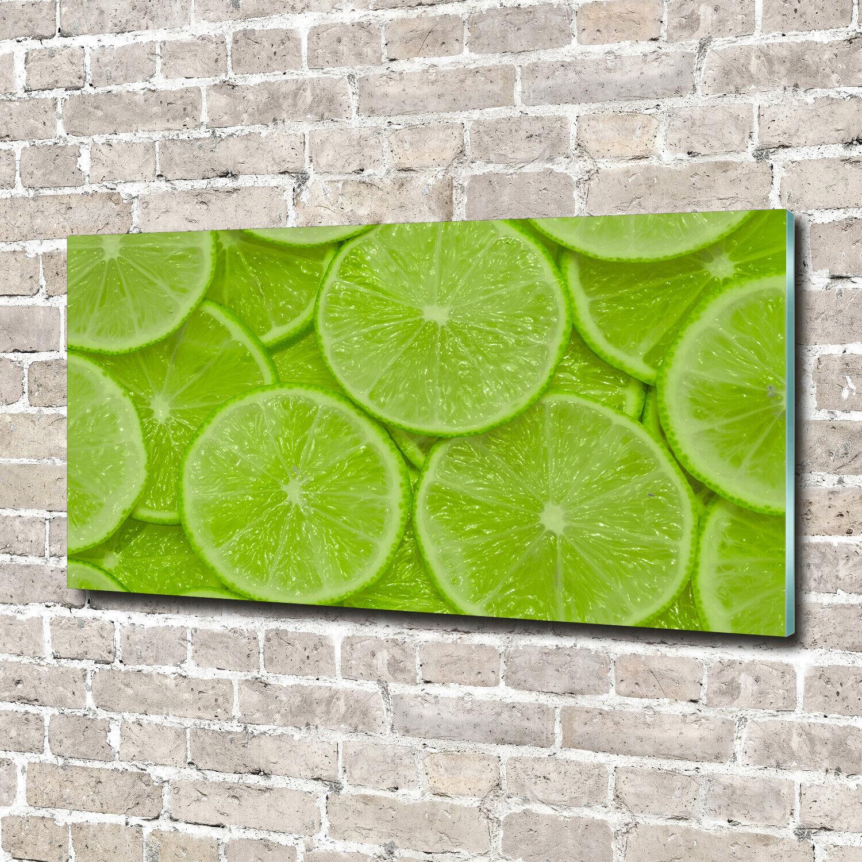 Wandbild aus Plexiglas® Druck auf Acryl 140x70 Essen & Getränke Limetten