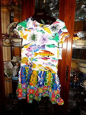 Jams World  RARE  Girls  L  SEA LIFE  Hattie Hawaiian Dress FAB NEW NWT Cruise