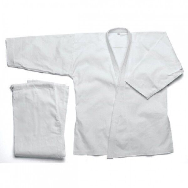 Karate Medium Heavy Weight Uniform Karate Gi 10 oz Poly Cotton Karate Gi-WHITE