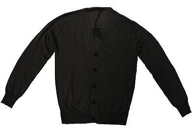 Nuovo Taglia 54 Baldessarini 15% Cashmere Pullover Cardigan Marrone-mostra Il Titolo Originale
