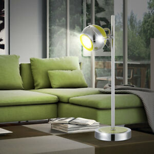 Lampe-de-table-LED-Chambre-lecture-Chrome-Ball-Beantellleuchte-pivotant-EEK-A
