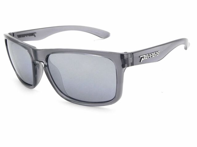 c5982e5f41f New Peppers Sunset Blvd Polarized Oval Sunglasses Crystal Grey 58mm with  Lens