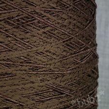Impresionante suave y sedoso Marrón Chocolate 4 capas GIMP hilo 500g cono brillante Crochet Tejido