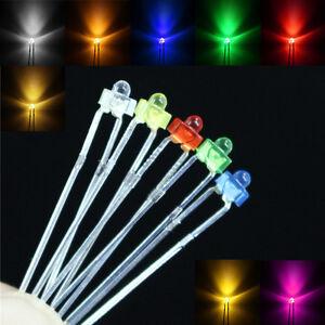 Super-bright-1-8mm-waterclear-diffused-color-len-LED-5v-6V-9V-12V-resistor