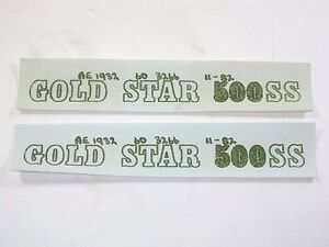 2 Decal Set Bsa Gold Star 500 Ss Varnish Transfer Set 60