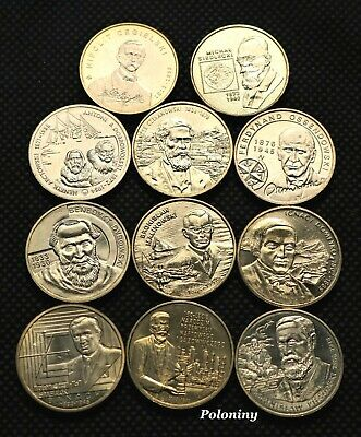 POLISH SCIENTIST /& DISCOVERERS LOT OF ELEVEN COMMEMORATIVE COINS OF POLAND