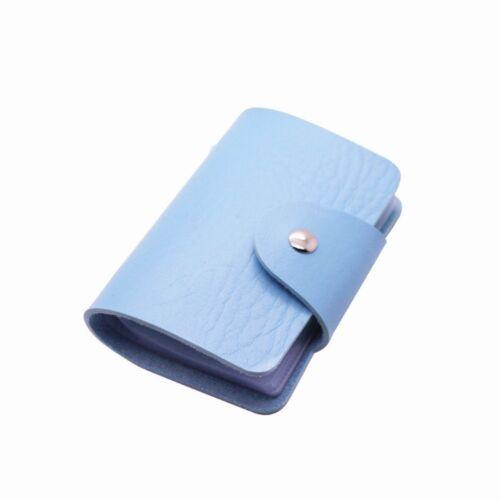 24 Cards Leather Credit Debit ID Business Card Holder Pocket Wallet Purse Sleeve