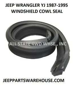 1987 1995 Jeep Wrangler Yj Windshield Cowl Rubber Seal