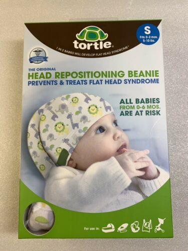 New Tortle Repositioning Beanie Corrective for Flat Head Syndrome Size Small