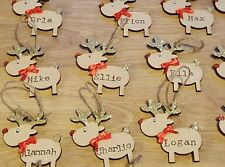 Personalised Reindeer Christmas Decorations Christmas Tree Ornaments