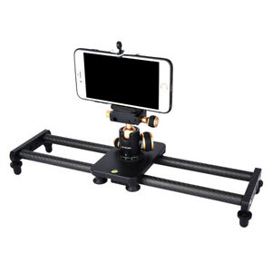 Carbon-Fiber-Camera-Track-Slider-Video-Stabilizer-Rail-with-4-Bearings-40cm