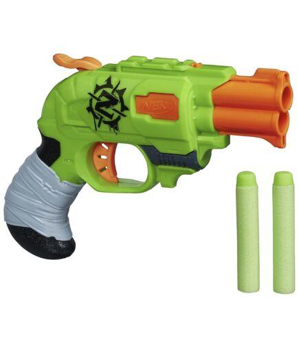 Nerf Zombie Strike Doublestrike Hammer Action Gun ~ Blaster w// 2 Foam Darts NIB