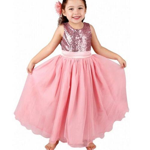 Toddler Kid Girl Unicorn Princess Tutu Dress Holiday Party Wedding Lace Dresses