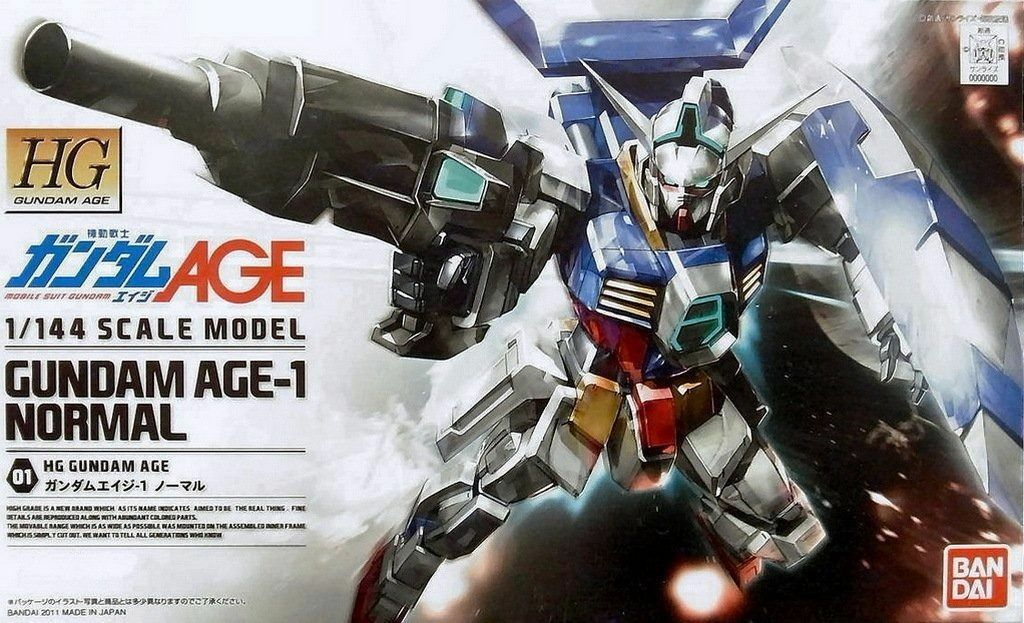 BANDAI 1 144 HG AGE 01 GUNDAM AGE-1 NORMAL Plastic Model Kit NEW from Japan