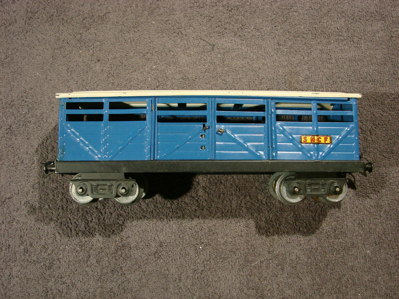 WAGON A BESTIAUX TRAIN ANCIEN SERIE ECHELLE 0 HORNBY