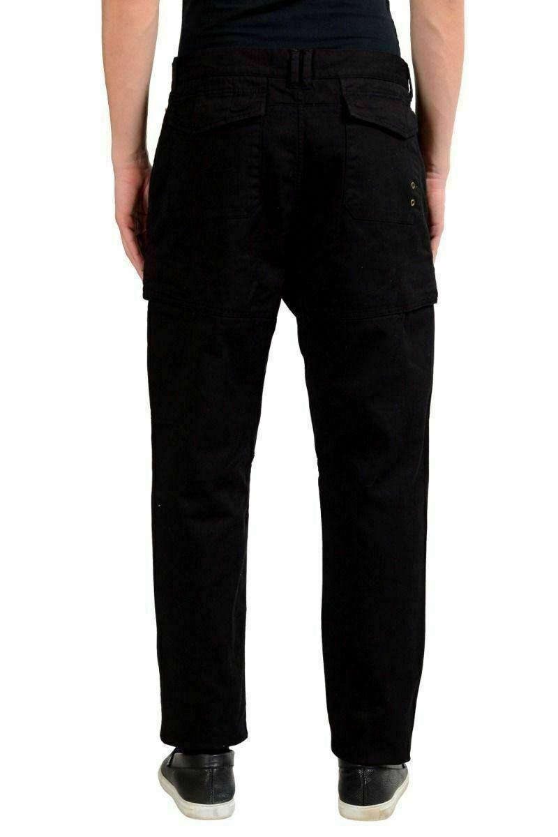 Richmond x   Nero, Elasticizzati Uomo Pantaloni Pantaloni Pantaloni Casual USA 32 It 48 f26cfe
