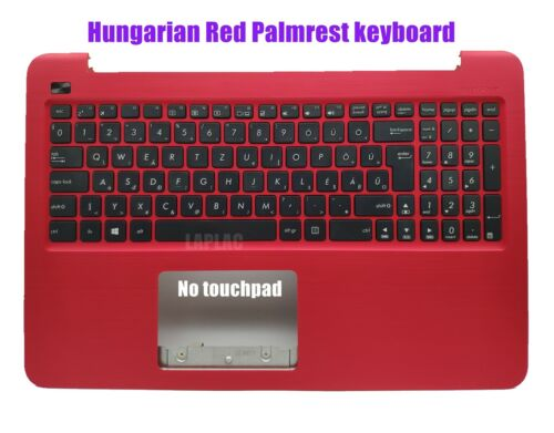 Hungarian Red Palmrest Keyboard for Asus X556U X556UA X556UB X556UF X556UJ