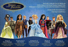 Disney Store COMPLETE Designer Collection Doll SETS w/Bags LIMITED EDITION 6000