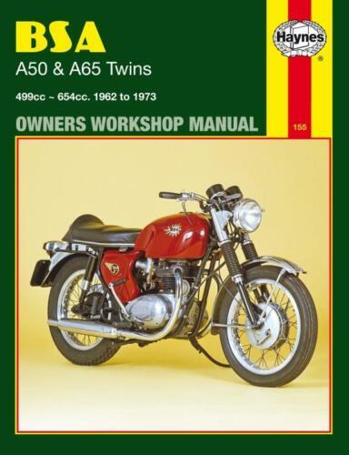 Haynes Workshop Manual BSA A50 A65 Twins 1962-1973 Service Repair 499cc 654cc