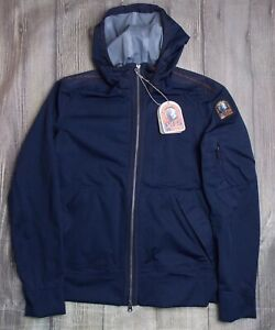 PARAJUMPERS-YAKUMO-SOFT-SHELL-MENS-JACKET-BNWT-GENUINE-359-LARGE-NAVY-HOODED