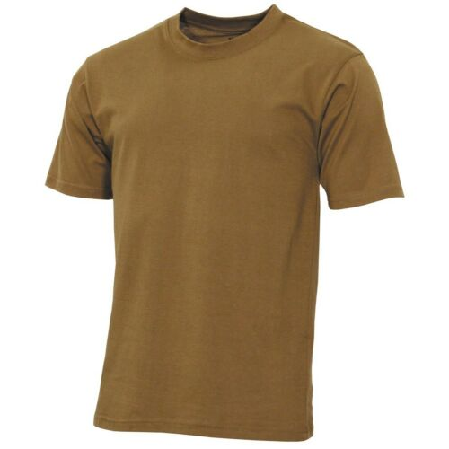 MILITARY STYLE COYOTE TAN  SHORT SLEEVE ARMY T SHIRT 100/% cotton