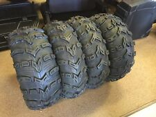 KENDA BEAR CLAW EVO 25-8-12 &  25-10-12 (2 of each) SET OF FOUR ATV TIRES 6 PLY