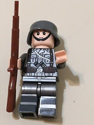 NEW German wehrmacht WW2 Army Soldier Camo Minifigure Military Force Weapon WWII