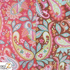 fabric paisley cotton duck riley blake yard decor drapery fabrics dec