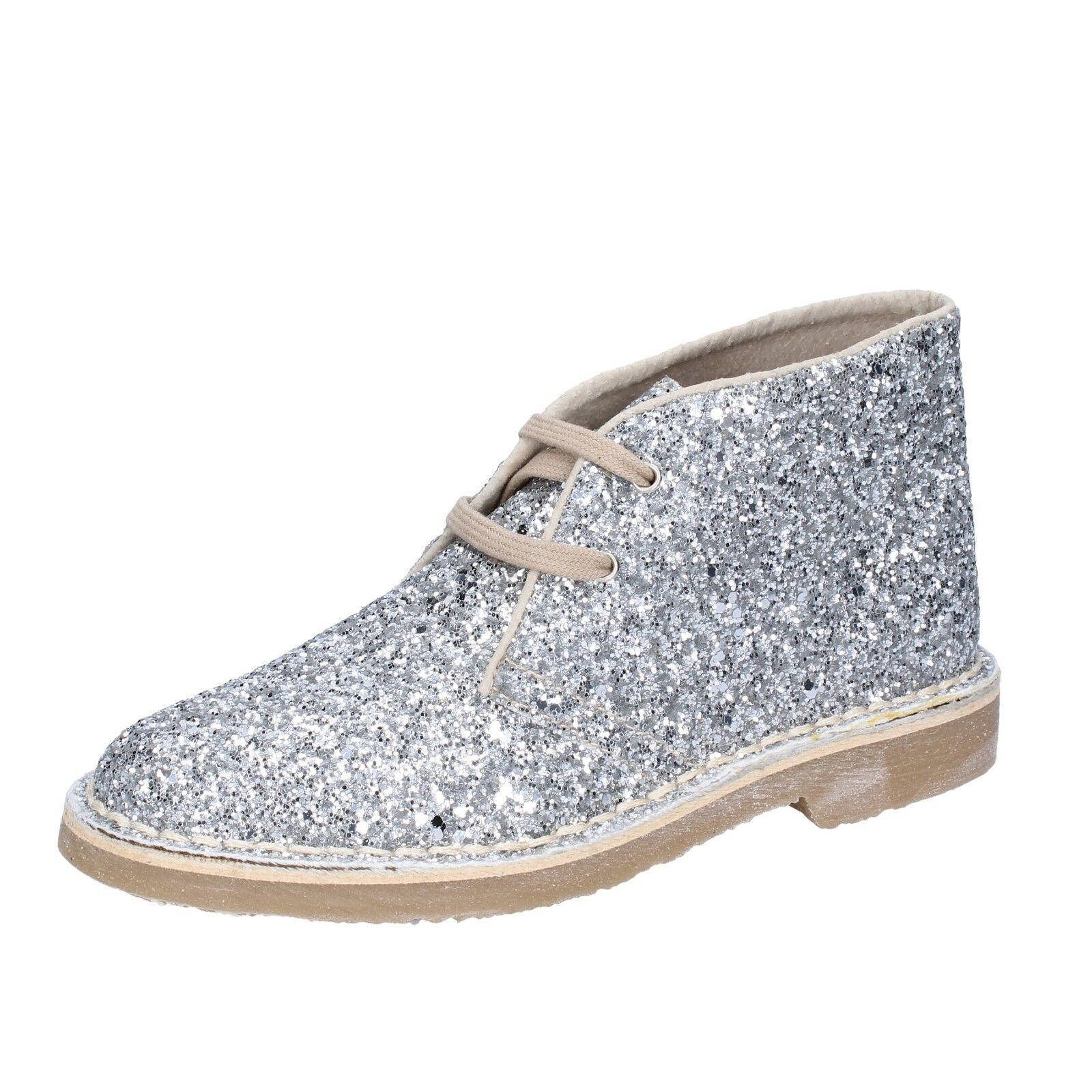 Womens shoes FIRPO 3 (EU 36) desert boots silver glitter BT897-36