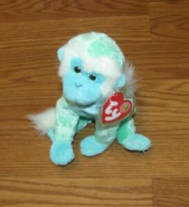 """TY 2005 ZOOMER the MONKEY BEANIE BABYwith tags 6"""""""