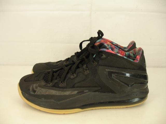 Mens 10 Nike Air Max Lebron XI 11 Low Black Gum Bottom Crimson 642849-078 Shoes