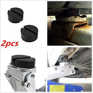 Universal 2pcs 75mm Black Floor Jack Pad Adapter For Pinch