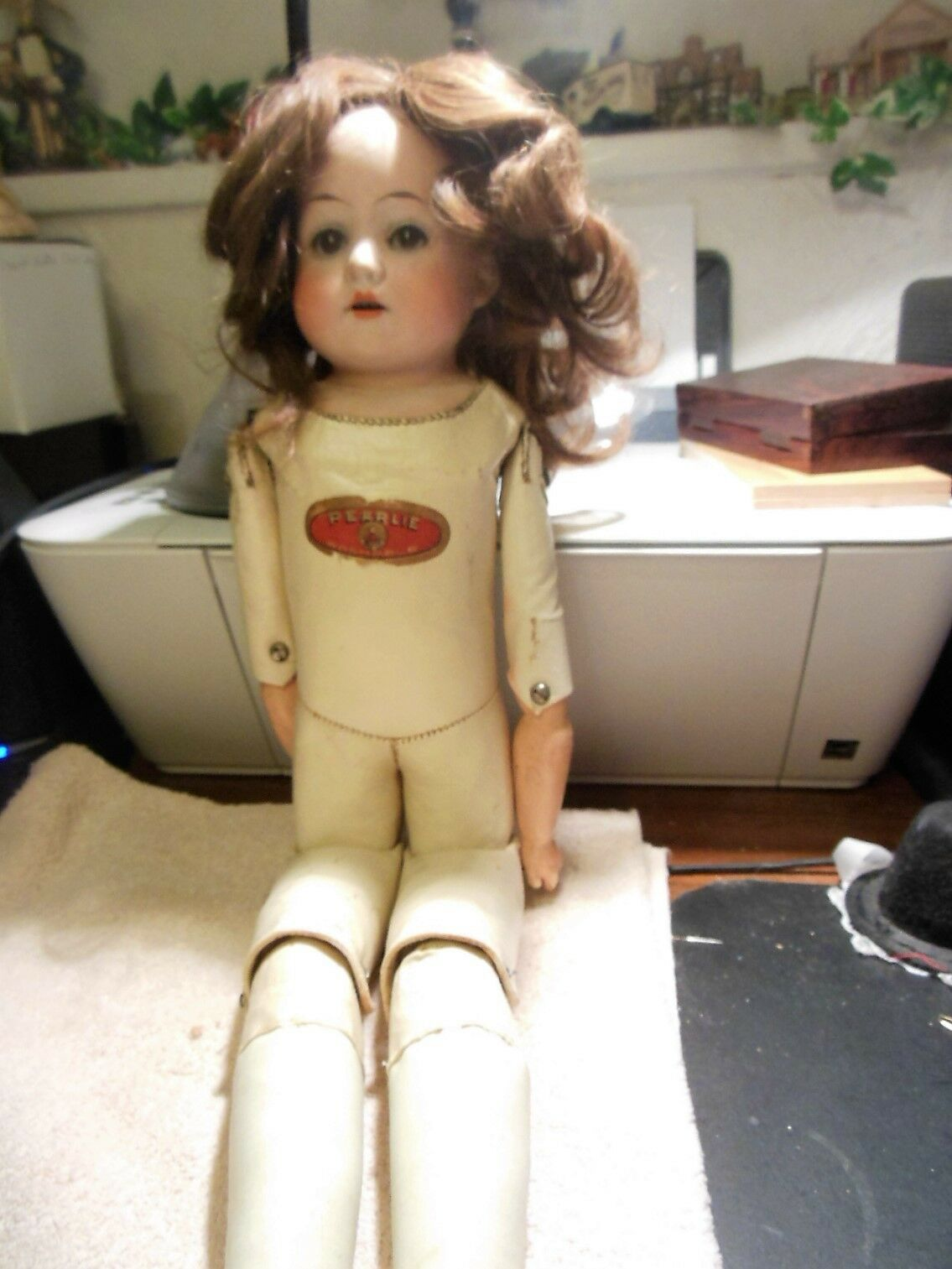 19  German  antique  doll  mark H