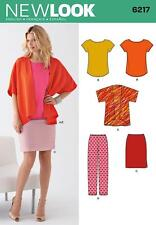 NEW LOOK SEWING PATTERN MISSES' KIMONO JACKET SLIM TROUSERS TOP 10 - 22 6217